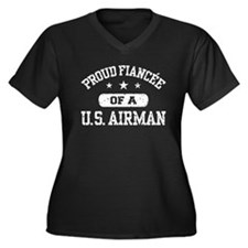 Proud Fiancee of a US Airman Women's Plus Size V-N