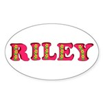 Riley Sticker (Oval 50 pk)