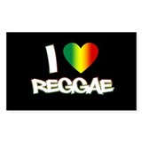 "I ""Love"" Reggae Decal"