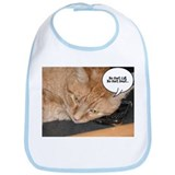 Orange Tabby Cat Humor Bib