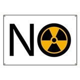 No to Radiation and Nuclear P Banner