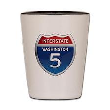 Interstate 5 - Washington Shot Glass