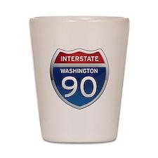 Interstate 90 - Washington Shot Glass