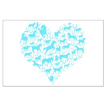 Horse Heart Art Large Poster
