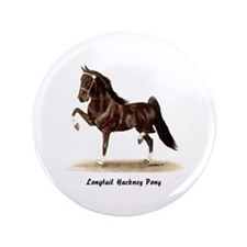 "Hackney Pony 3.5"" Button"
