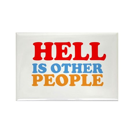 Hell Is Other People Rectangle Magnet (10 pack)