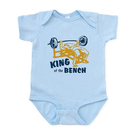 King of the Bench Press Infant Bodysuit