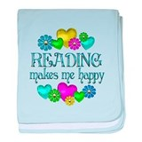 Reading Happiness baby blanket