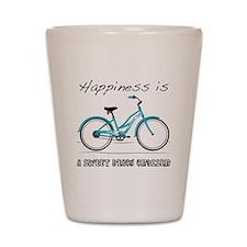 Happiness is a Beach Cruiser Shot Glass