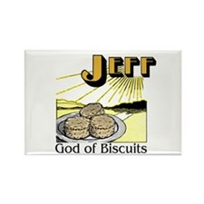 Jeff, God of Biscuits Rectangle Magnet