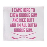 Cute Bubble gum Throw Blanket