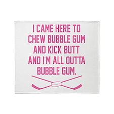 Cute Bubble gum Throw Blanket