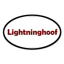 Lightninghoof Red Server Oval Decal