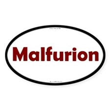 Malfurion Red Server Oval Decal