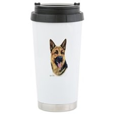 German Shepherd Ceramic Travel Mug