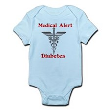 Diabetes Medical Alert Rod of Infant Bodysuit
