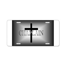 Chaplain Grey/Black Aluminum License Plate
