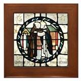 St Francis of Assisi and St Dominic Framed Tile