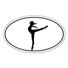 Beautiful Dance Figure Bumper Stickers