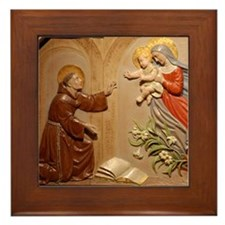 St Francis Framed Tile