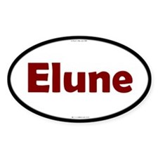 Elune Red Server Oval Decal