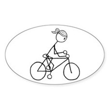 Biking Girl-Black Decal