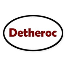 Detheroc Red Server Oval Decal