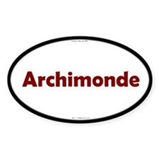 Archimonde Red Server Oval Decal