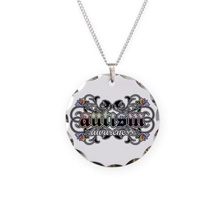 Autism Awareness Necklace Circle Charm