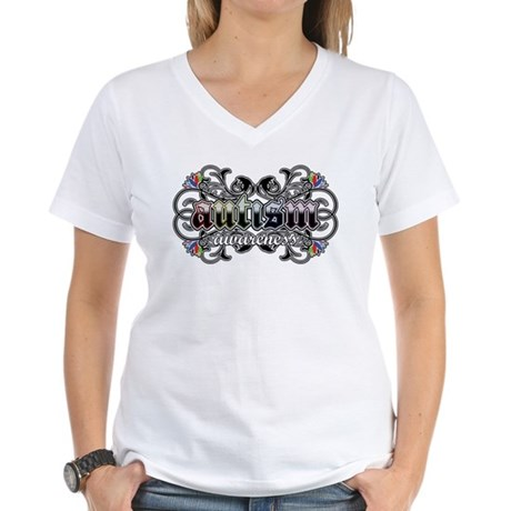 Autism Awareness Women's V-Neck T-Shirt