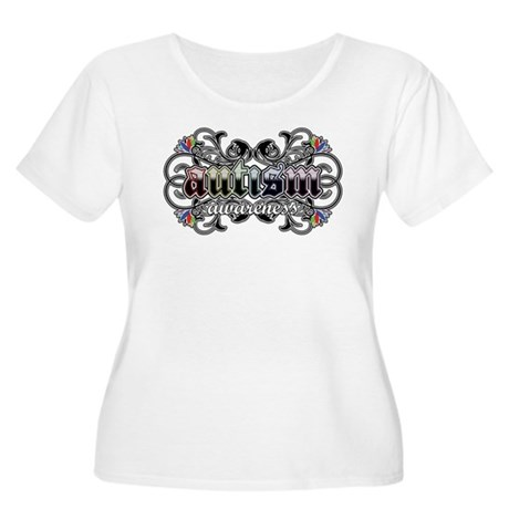 Autism Awareness Women's Plus Size Scoop Neck T-Sh
