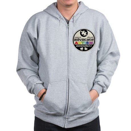Advocate Autism Awareness Zip Hoodie