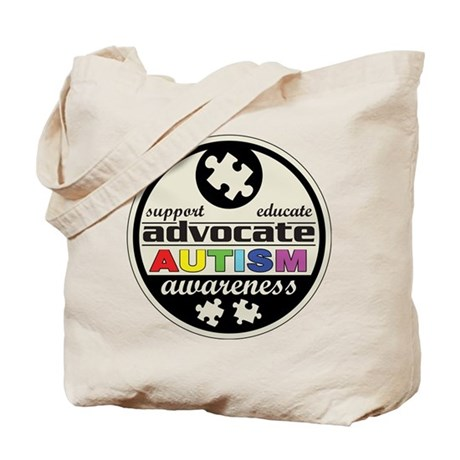 Advocate Autism Awareness Tote Bag