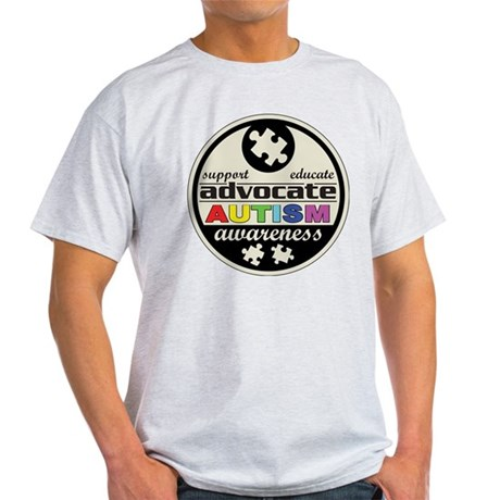 Advocate Autism Awareness Light T-Shirt