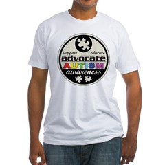 Advocate Autism Awareness Fitted T-Shirt