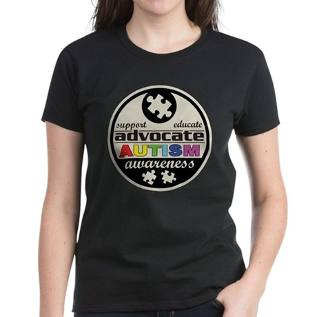Advocate Autism Awareness Women's Dark T-Shirt
