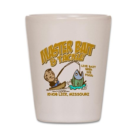 Master Bait Tackle Shot Glass