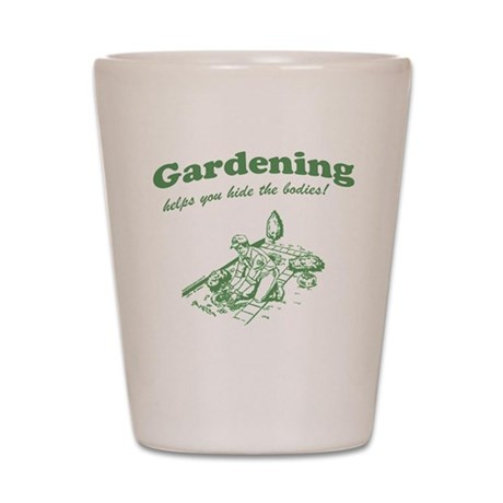 Gardening Helps Shot Glass
