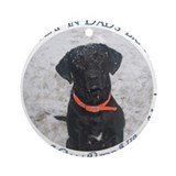 Black Labrador Retriever Big Ornament (Round)
