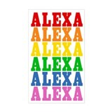 Rainbow Name Bumper Stickers