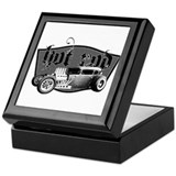 Cute Hot rod Keepsake Box