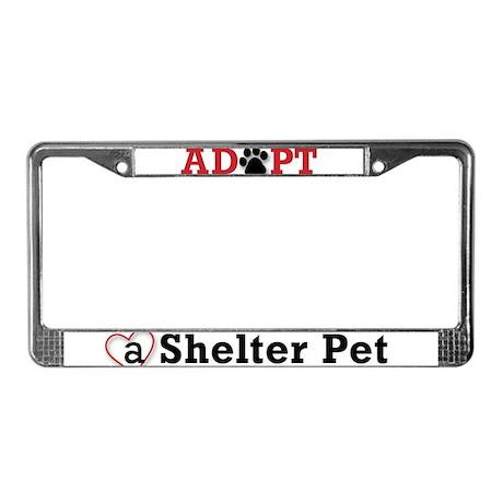 Adopt a Shelter Pet License Plate Frame
