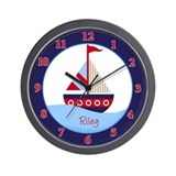 Little Sailboat Wall Clock - Riley