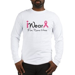 Personalize Breast Cancer Long Sleeve T-Shirt