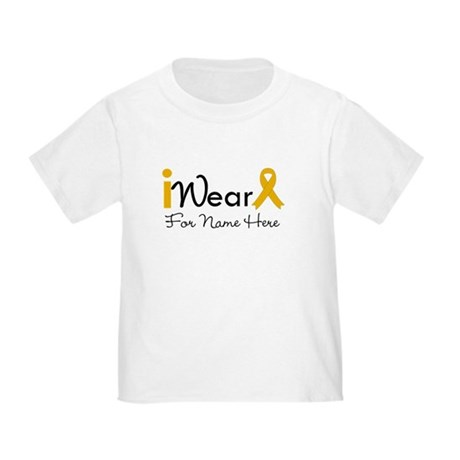 Personalize Appendix Cancer Toddler T-Shirt