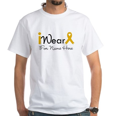 Personalize Appendix Cancer White T-Shirt