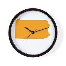 Orange Pennsylvania Wall Clock