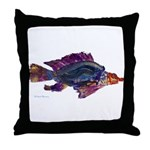Fish Print Throw Pillow