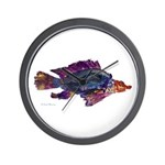 Fish Print Wall Clock