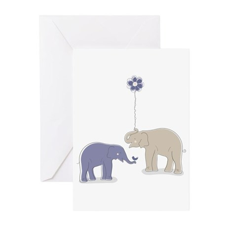Whimsy Elephants Greeting Cards (Pk of 20)